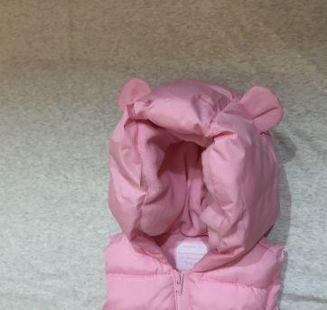 Colete fofinho rosa com brilhos - 6 a 9 meses - Gymboree