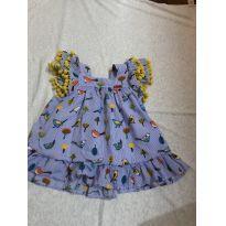 vestidinho estampado - 6 a 9 meses - Camú Camú