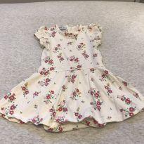 Vestido florido com body - 3 a 6 meses - Tyrol