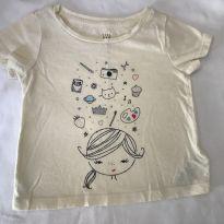 Camiseta menininha - 12 a 18 meses - GAP