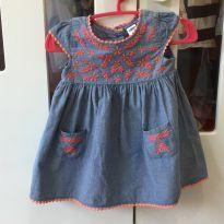 Vestido bordado Old Navy - 1 ano - Old Navy