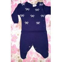 Macacão Azul Marinho Menina - Buá - Recém Nascido - Buá