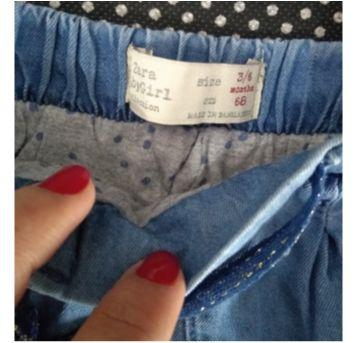 Calça Jeans Forrada - 3 a 6 meses - Zara