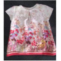 Vestido Florido - 6 a 9 meses - Zara