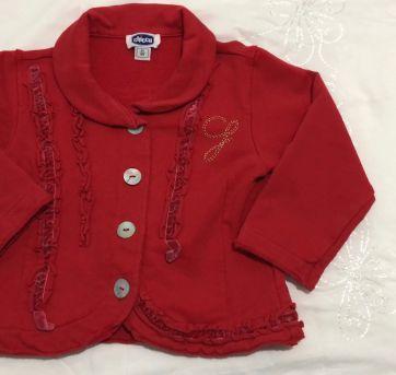 Blusa Moletom Vermelha - 18 meses - Chicco