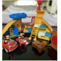 Trailer Acampamento do Mickey Mouse + carro Mickey -  - Fisher Price