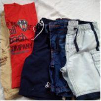 Lote camisetas e shorts número 02 - 2 anos - Não informada