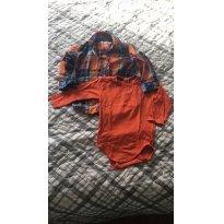 Conjunto camisa   body - 1 ano - Não informada