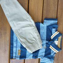 Calça + camiseta Polo - 9 a 12 meses - Carter`s e Teddy Boom