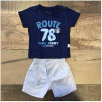 Conjunto shorts + camiseta Novo - 3 a 6 meses - Kiko e Alô bebê