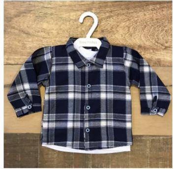 Camisa xadrez com forro nunca NOVA - 9 a 12 meses - bonettinhos baby