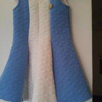 Vestido Azul e branco - 12 a 18 meses - Boca Grande