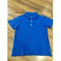 Camisa polo azul - 5 anos - Carter`s