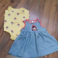 Vestido com body Chapeuzinho Vermelho - 9 a 12 meses - Alphabeto