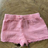 shorts rosa fofo com rendinha carters - 12 a 18 meses - Carter`s