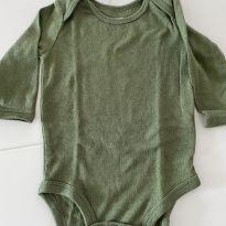 body manga longa verde militar - 0 a 3 meses - Carter`s