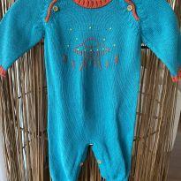 Macacão de tricot disco voador - 0 a 3 meses - Nina & Maria