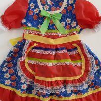 Vestido Junino Caipira - 1 ano - Sem marca
