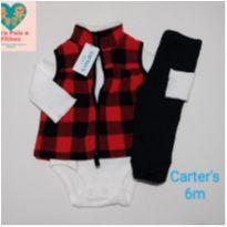 Trio Carters - Tam. 6 meses - com colete, body e calça. - 6 meses - Carter`s