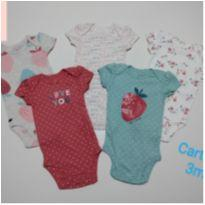 Kit body Carters - Tam. 3 meses - para meninas - PRODUTO NOVO - 3 meses - Carter`s