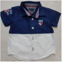 Camisa Tommy - 3 a 6 meses - Tommy Hilfiger