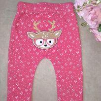 Calça rosa Rena - 9 a 12 meses - Baby Club