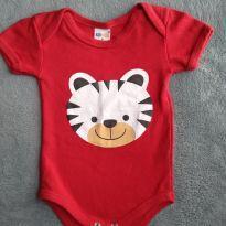 Body vermelho Ursinho Kid Stok Tam.P - 3 a 6 meses - Kid Stok