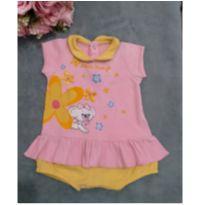 Body rosa com amarelo Lilica Ripilica - 3 meses - Lilica Ripilica Baby