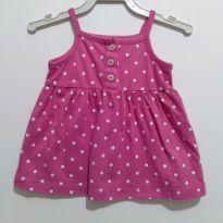 Blusa rosa Poá Carters - 3 meses - Carter`s
