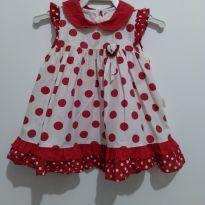 Vestido de bolinhas menina 3 meses - 3 meses - etiqueta foi cortada