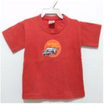 Blusa vermelha menino 1 ano - 1 ano - Fabricação Nacional