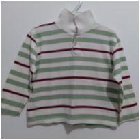 Blusa gola Polo listrada 2-3 anos - 24 a 36 meses - etiqueta foi cortada