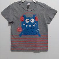 Blusa cinza menino 3 anos - 3 anos - Fabricação Nacional