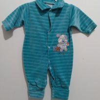 Macacão Azul quentinho menino  Tam.M - 3 a 6 meses - Fabricação Nacional