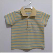 Blusa Polo listrada menino BabyWay Tam.M - 3 a 6 meses - Baby Way