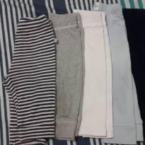 Lote com 5 calças - 6 a 9 meses - Não informada
