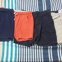 Lote 2 shorts e 2 bermudas - 6 a 9 meses - Não informada