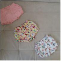 3 shorts 0 a 3 meses menina - 0 a 3 meses - Teddy Boom