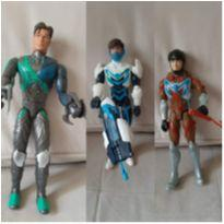 3 bonecos max steel articulado 28 cm -  - Mattel