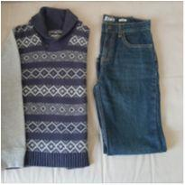 Suéter e calça OshKosh TAM 10 anos