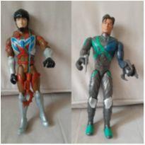 2 bonecos max steel articulados 30 cm -  - Mattel