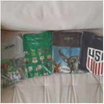 Lote 4 camisetas menino 10 anos - 10 anos - LOTE