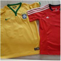 2 camisetas nike/adidas 9-10 anos