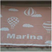 Manta dupla face  nome Marina -  - Sem marca