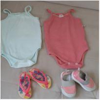 Lote roupa e sapato menina 6 a 9 meses - 6 a 9 meses - Pimpolho e Teddy Boom