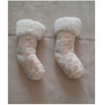 Meia inverno menina 9-12 meses - 9 a 12 meses - sem etiqueta