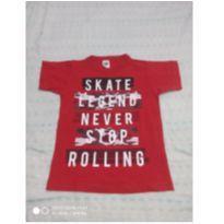 Camiseta vermelha manga curta - 4 anos - Outros