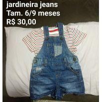 Jardineira jeans - 6 meses - Primark