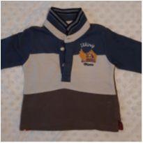 Camisa Polo Chicco - 3 meses - Chicco
