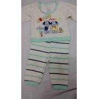 Lindo Pijama 2 Peças - 6 a 9 meses - Boulevard Baby